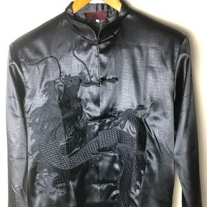 Men's silk dragon traditional Chinese dress shirt